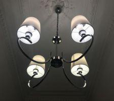 Nouveau lustre maison du monde argent et blanc