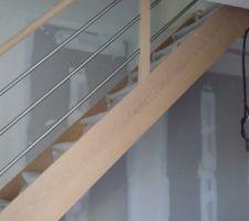 Et voilà le fameux escalier il est beau j'en suis amoureuse lol