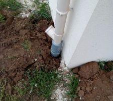 Installation du système de récupération de l'eau de pluie et du puisard