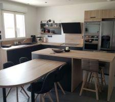 Fin du projet zoe mais achat d une maison deja construite. Nous avons concervé notre cuisine avec quelques modifs et voici le resusltat