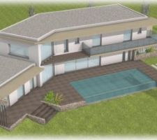 Vue plan de maison définitif