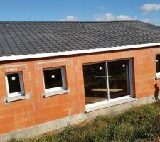 Fenêtres, baie vitrée, porte d'entrée et porte de garage posé