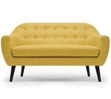 Canapé 3 places jaune moutardes