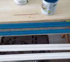 En cours. Baguette en couleur bleu Atol n#1 de chez Leroy