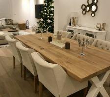 Ambiance de Noël dans le salon/salle à manger