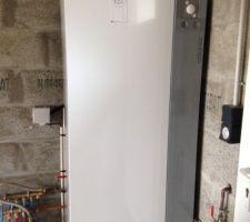 Installation de la PAC et du module interne dans le garage
