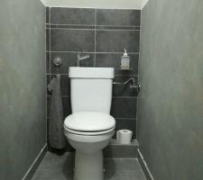 WC avec lave main intégré posé !