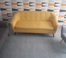 Canapés et fauteuil  scandinave de chez menzzo installé