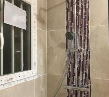 Pose colonne douche