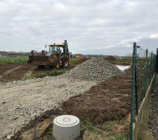 Préparation de l'accès chantier