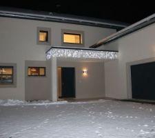 Ambiance de Noël sous la neige