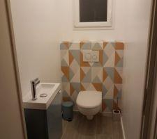 Toilettes presque terminées