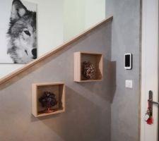 Décoration hall entrée et escalier