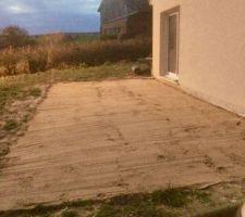 Pose de pavé autobloquant sur lit de sable 34m2