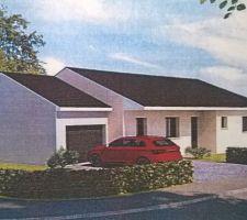 Projet maison traditionnelle plain pied