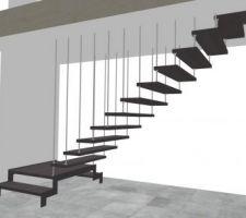 Couleur définitif de l?escalier ascenso