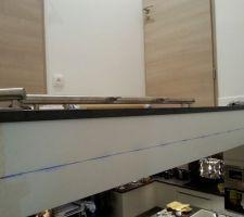 Traçage au cordeau,axe de fixation pour les poteaux (niveau et poteaux à 1 m sol fini)