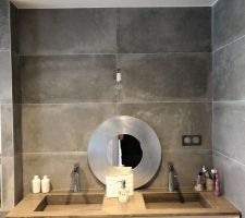 Douche du haut qui sert essentiellement au enfants ! Il manque toujours le miroir !
