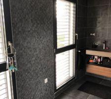 La salle de bain de la suite ! Un mur en faïence mosaïque