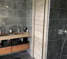 Porte a galandage des toilette de la suite