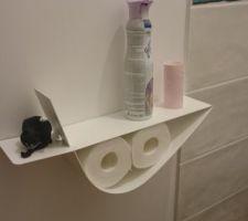 Petite étagère dans les toilettes