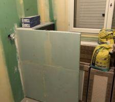 Cloison séparation WC dans la SDB