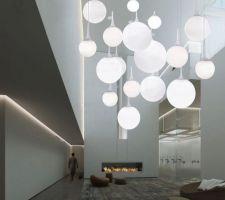 Luminaire castor pour plafond cathédrale séjour