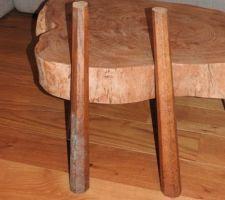 Anciens pieds de la table basse