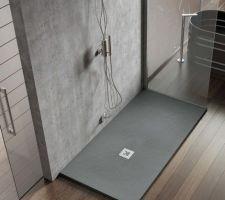 Salle d'Eau RDC (suite parentale) Receveur Collection K - 120x90 - Gris Ciment