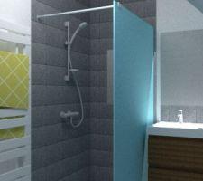 Test Sketchup SDB étage - côté douche
