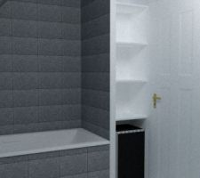Test Sketchup SDB étage - côté baignoire