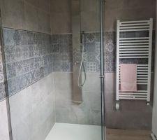 Colonne de douche salle d eau parentale