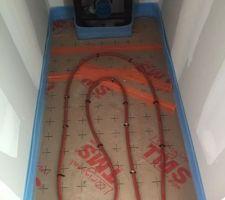 Pose du plancher chauffant terminée.