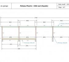 Plans de la structure poteau/poutre du garage