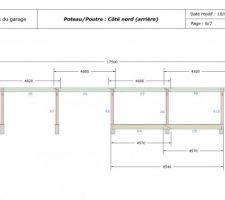 Plans de la structure poteau/poutre du garage (arrière)