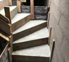 Coffrage escalier sous-sol