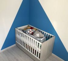 Peinture terminé pour la chambre de bébé
