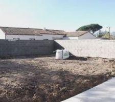 Mur clôture jardin en parpaings