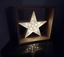 Déco étagère et étoile lumineuse