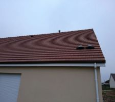 Sorties de toit posées pour le ballon thermodynamique