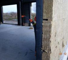 Pose de l'isolation extérieur (laine de roche 130mm)