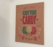 Panneau cotton-candy