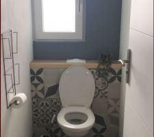 Décoration des WC terminée
