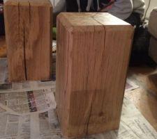Nos jolies tables de chevet en chêne massif