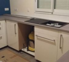 évier + meuble poubelle + lave vaissaille encastrable
