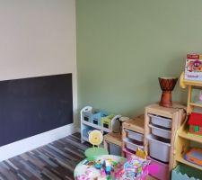 Voilà l'espace des enfants est terminé.