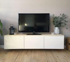 Meuble TV en attente de réglage