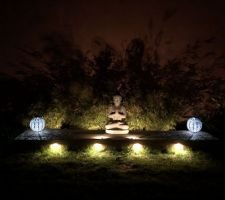 Positionnement des spot led du bouddha