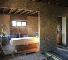 Ouverture cuisine/salle à manger et hall d'entrée/salon