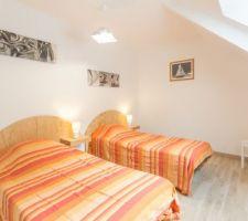Chambre double avec deux lit de 90*190